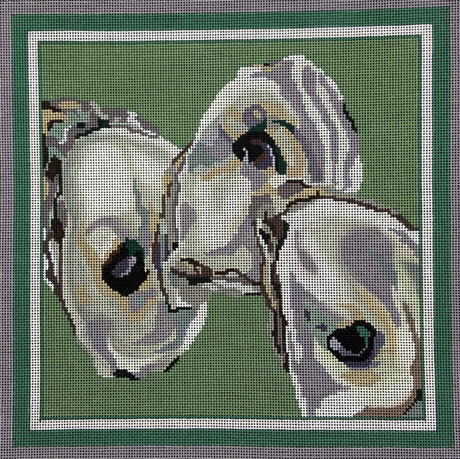 P408 Three Oysters on Green The Point of It All Designs