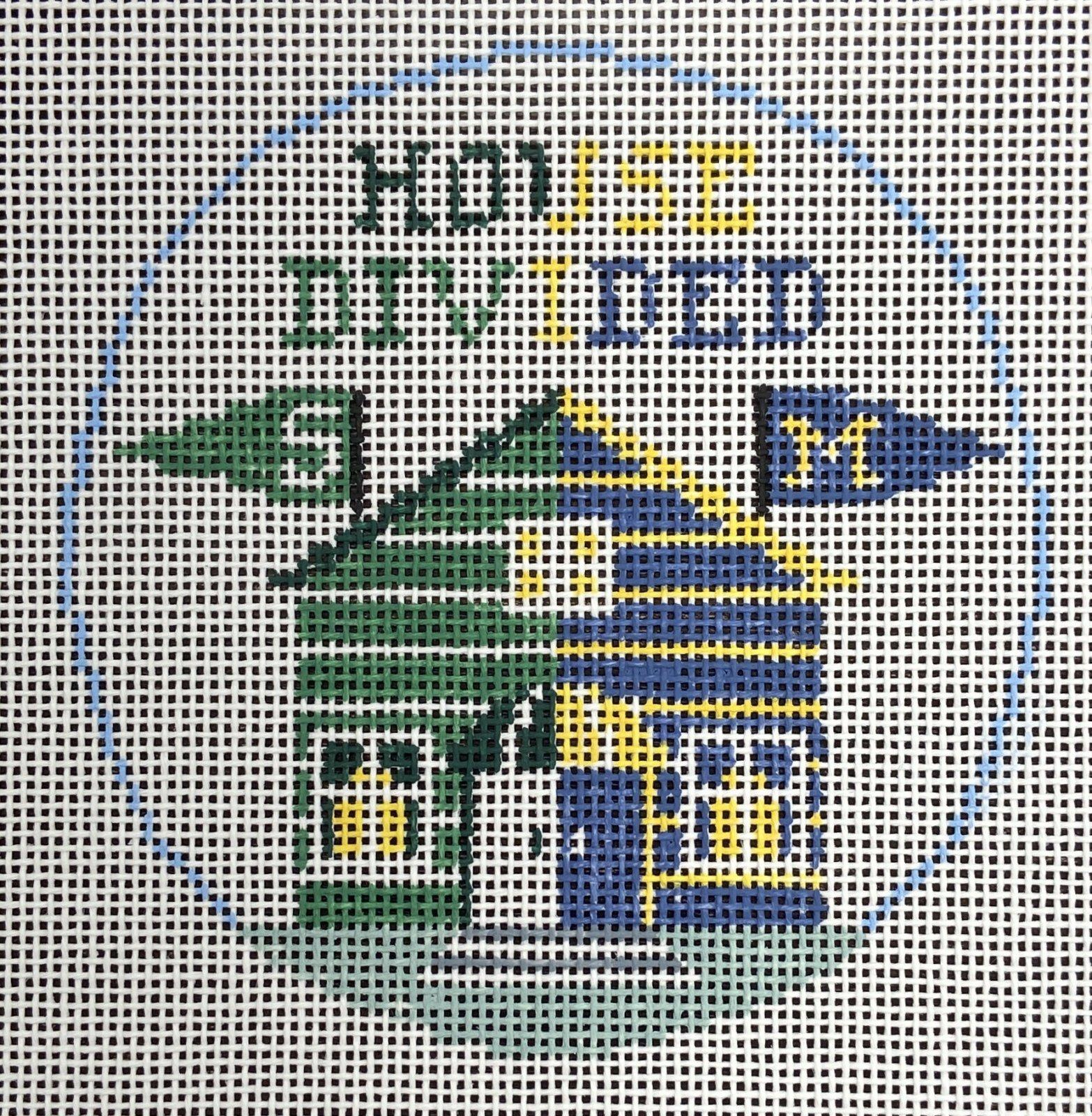 BT269N House Divided Michigan State University of Michigan Ornament Kathy Schenkel