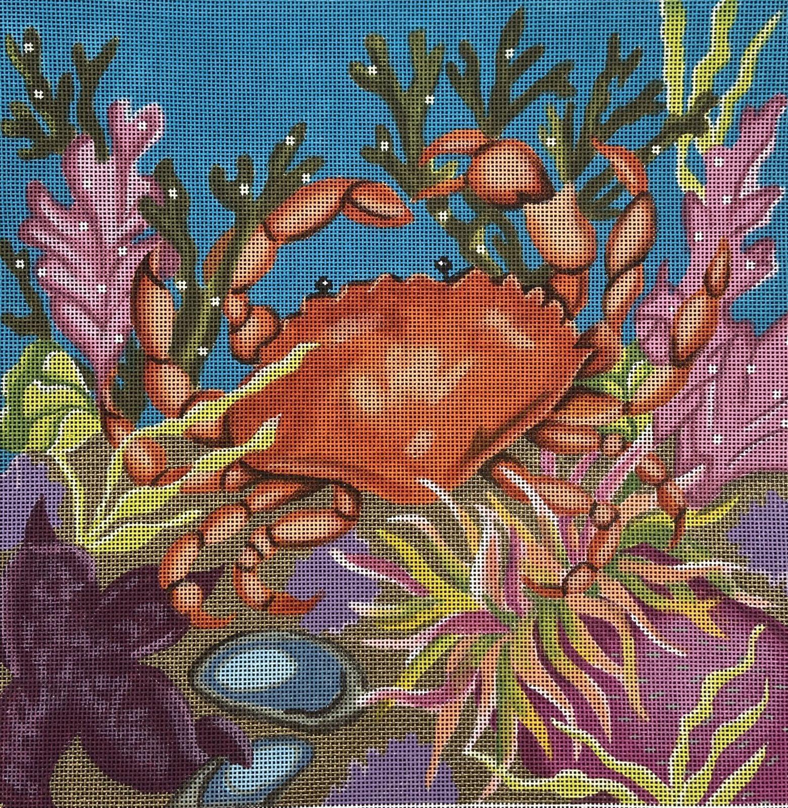 AL035 Coral Reef Crab Valerie Needlepoint Gallery