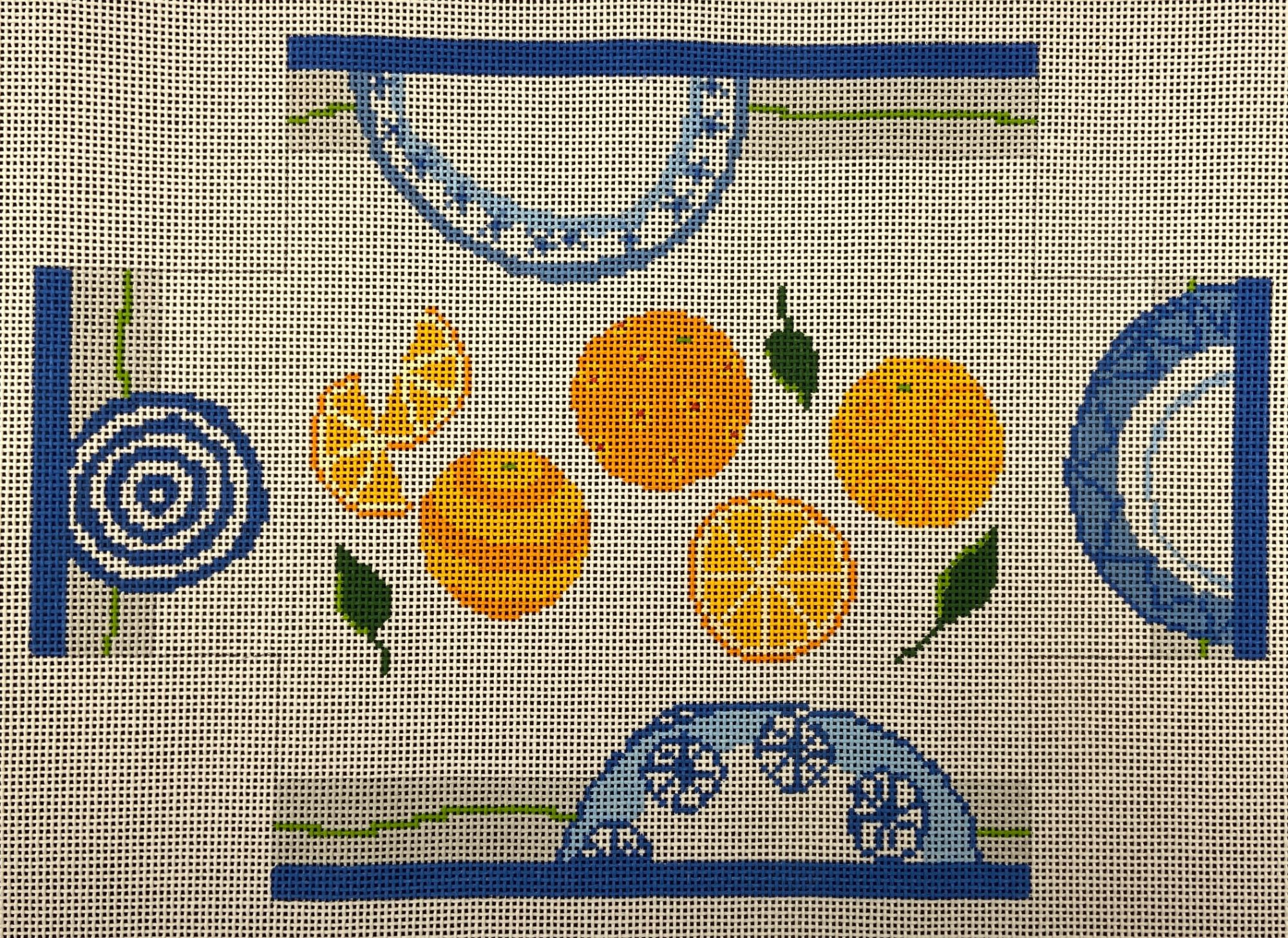 PDS009 Oranges Brick Cover Pippin JL Canvas Co