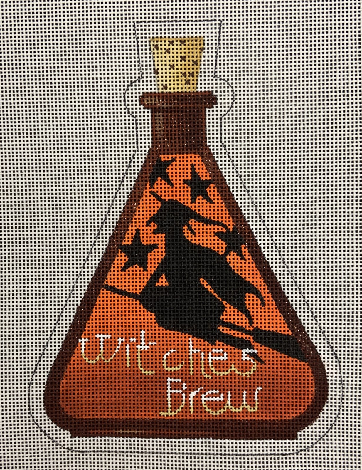 KB321 Witches Brew Halloween Bottle Stand Up Ornament Kirk & Bradley