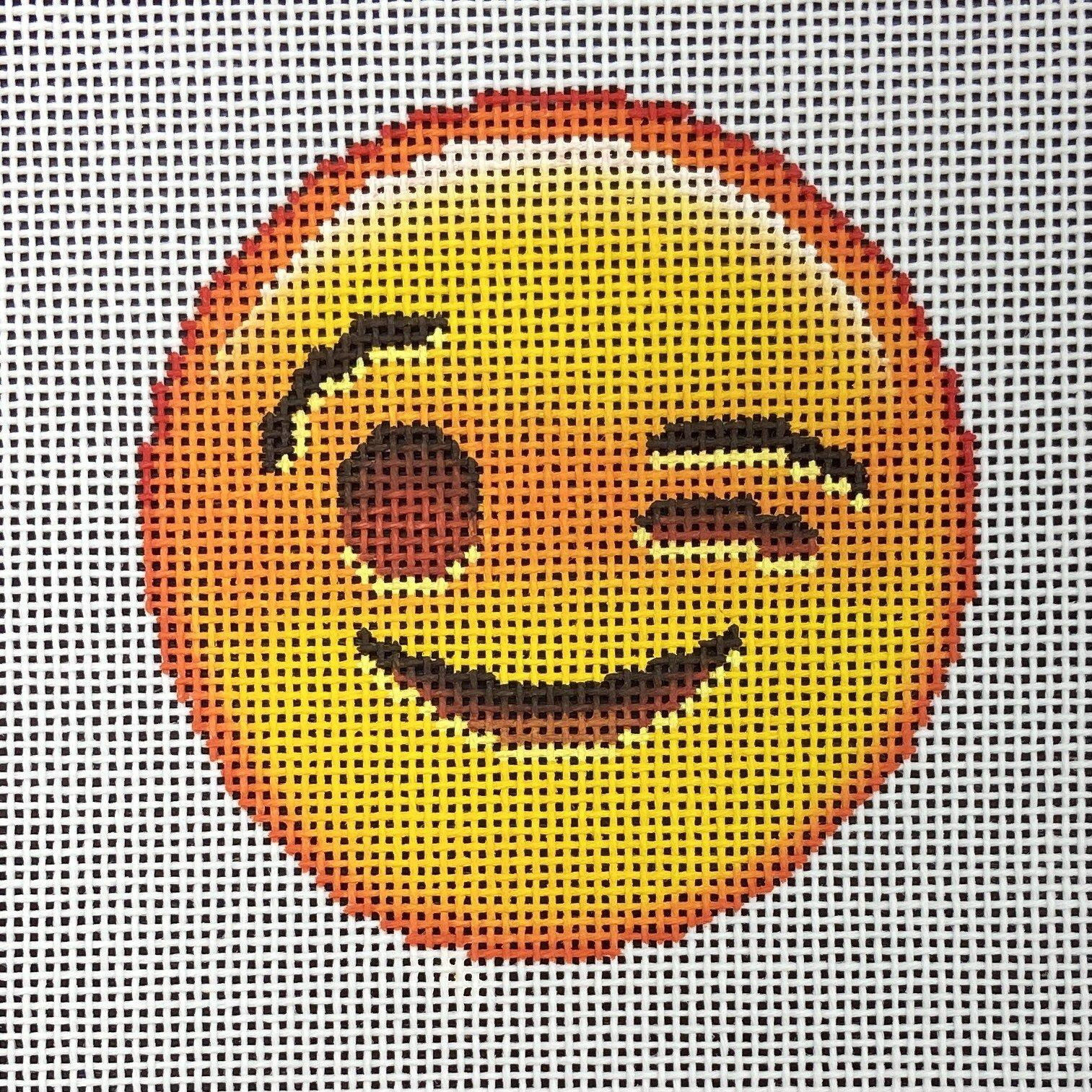EJ011 Wink Emoji Ornament Point Of It All Designs