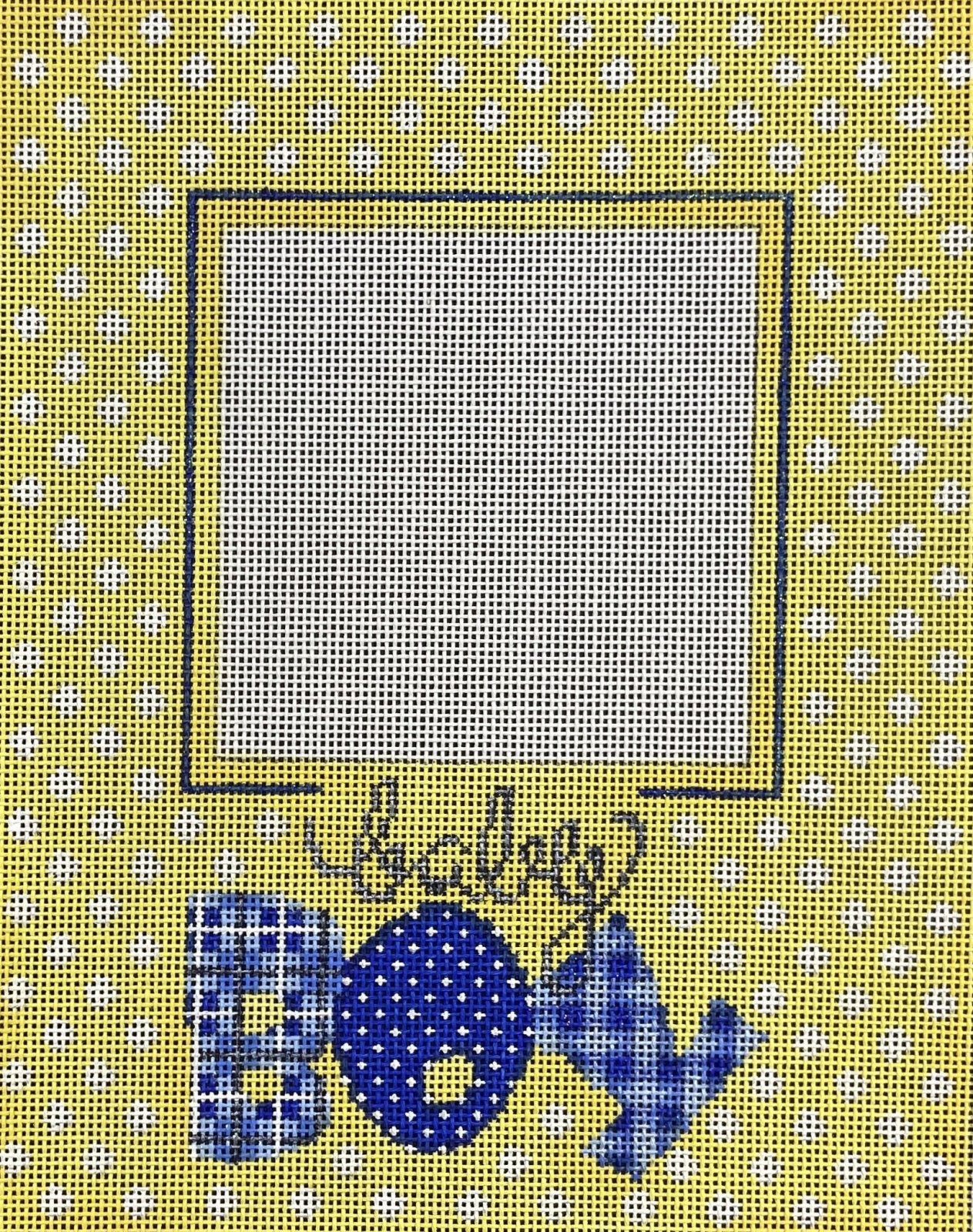 ATPF269 Frame Yellow and Blue with Dots Baby Boy Associated Talents
