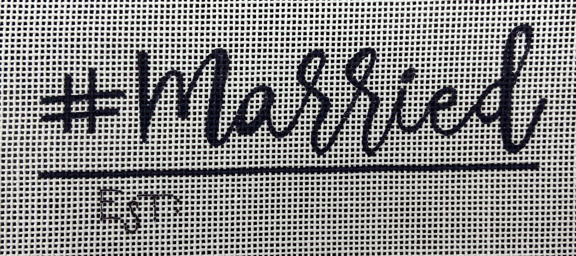 ONMB11 # Hashtag Married Oasis Needlepoint