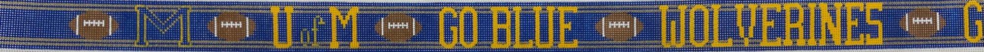 CBK382 Belt University of Michigan Football CBK Needlepoint Collections