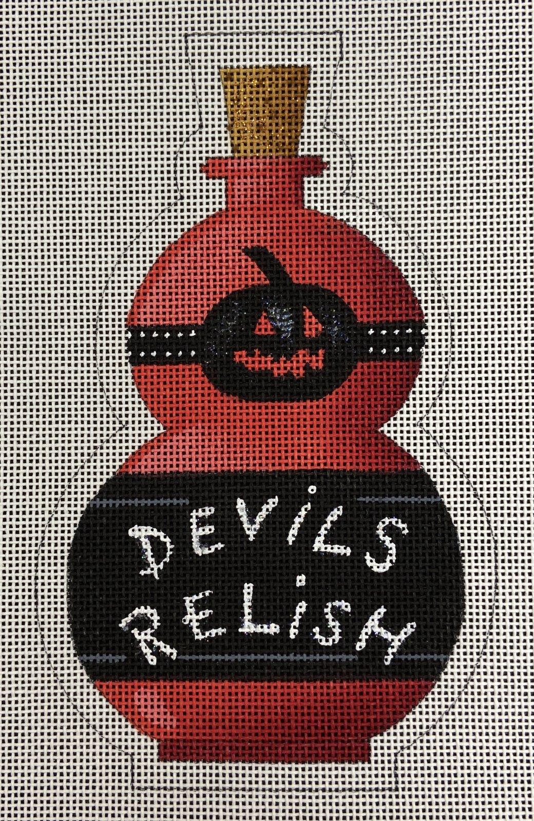 KB327 Devils Relish Halloween Bottle Stand Up Kirk & Bradley