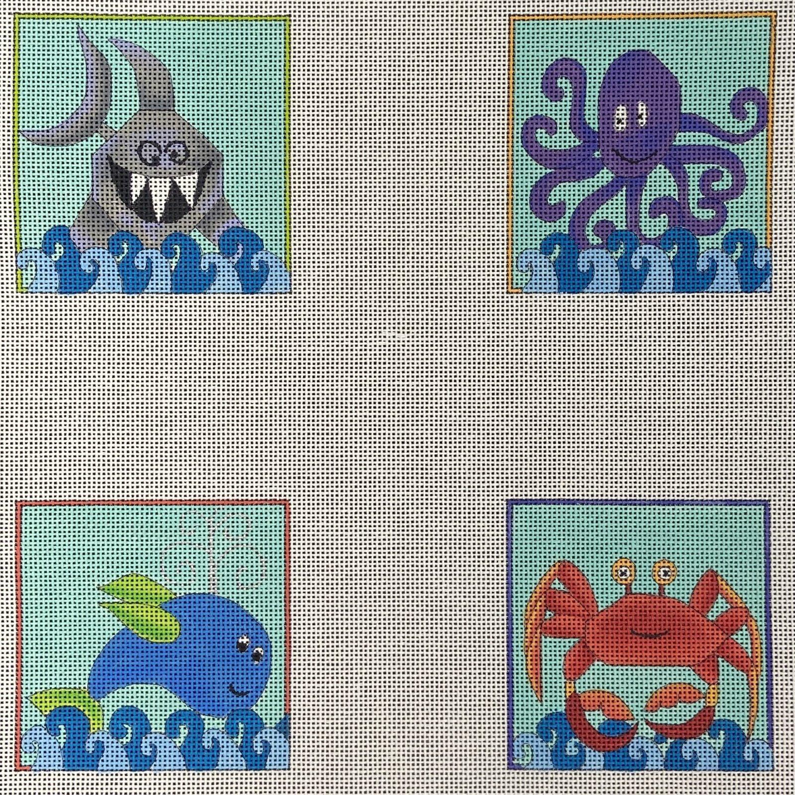 DTH1021 Coasters Sea Creatures Renaissance Designs