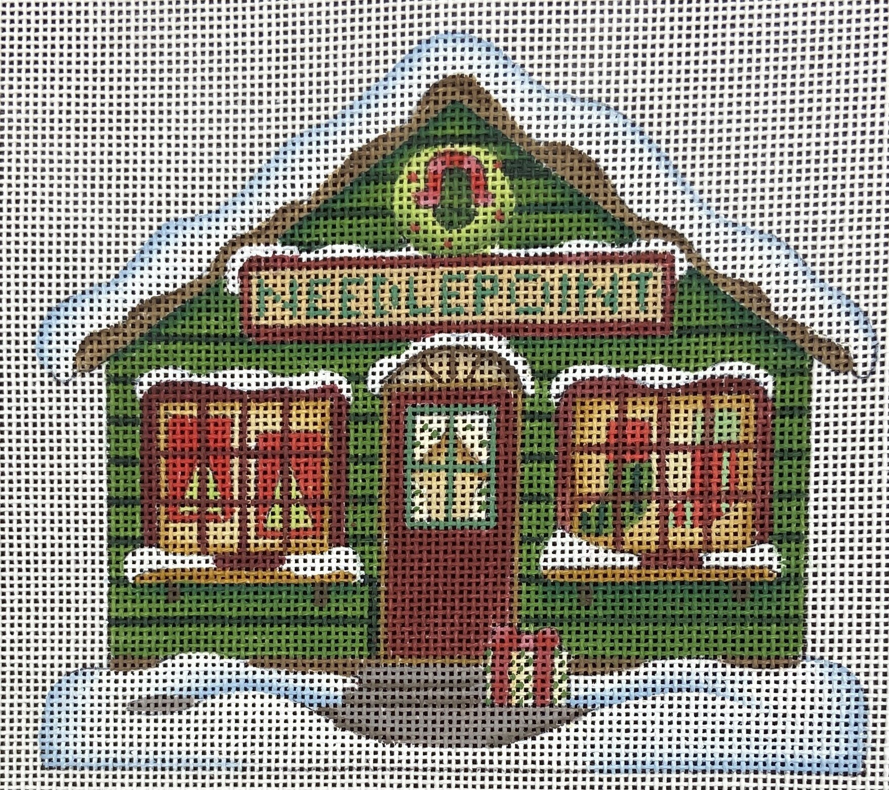 DM113D Needlepoint House Melissa Shirley