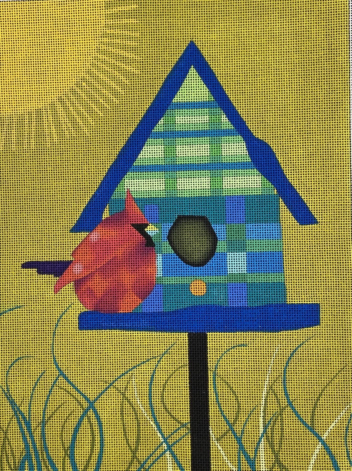 JB280 Birdhouse and Cardinal The Collection
