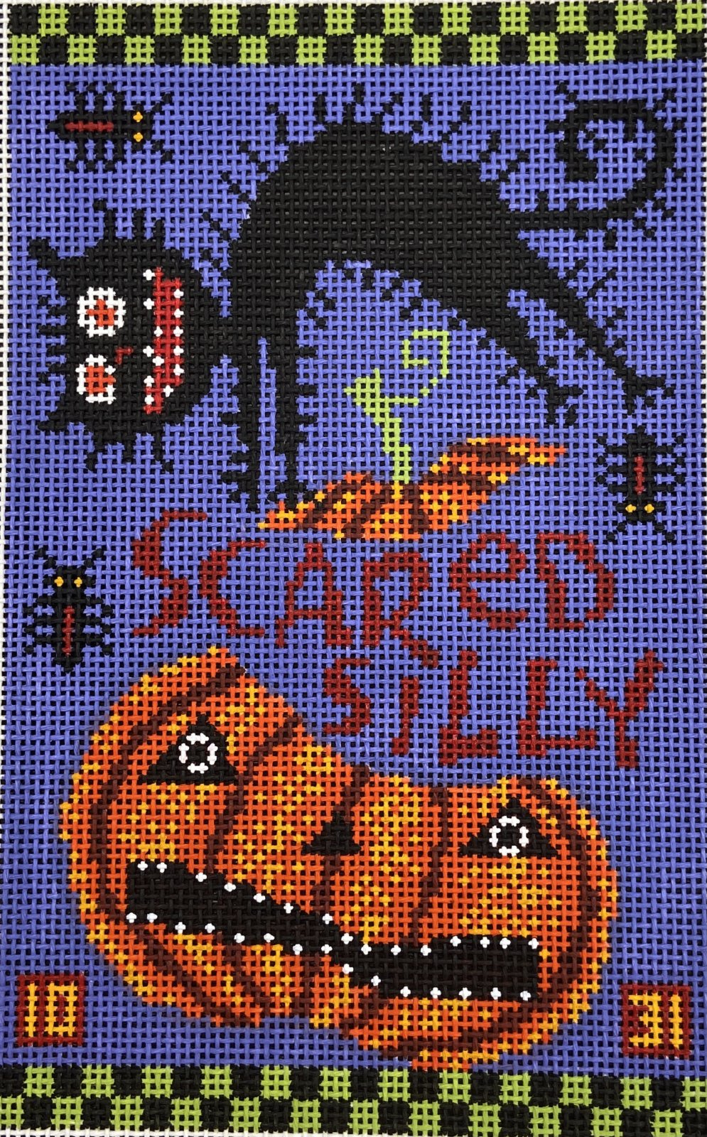 BF307 Scared Silly  Pumpkin and Halloween Cat Birds of a Feather