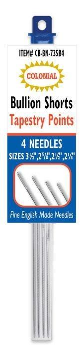 Needles Bullion Tapestry Short 4 Needles Colonial Needle