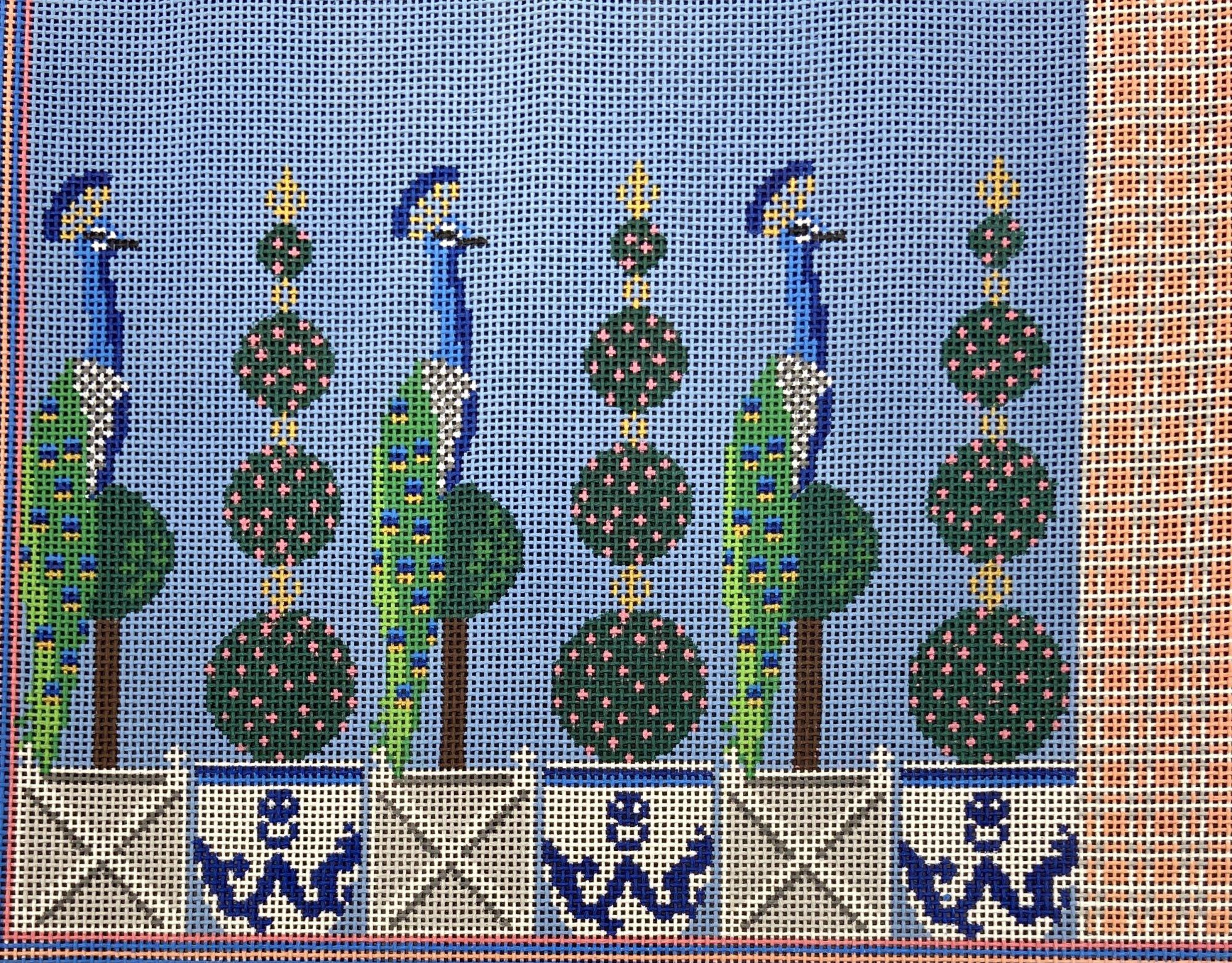 AF99 Peacock Backgammon Game Board Anne Fisher