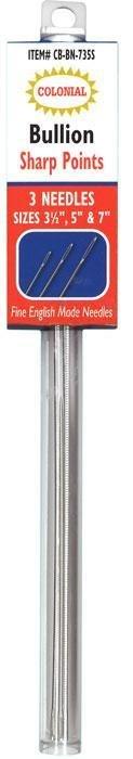 Needles Bullion Sharp 3 Needles Colonial Needle