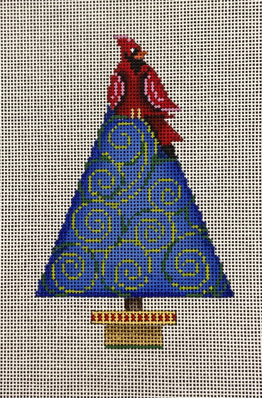 PM85024 Cardinal on Tree Ornament Patti Mann