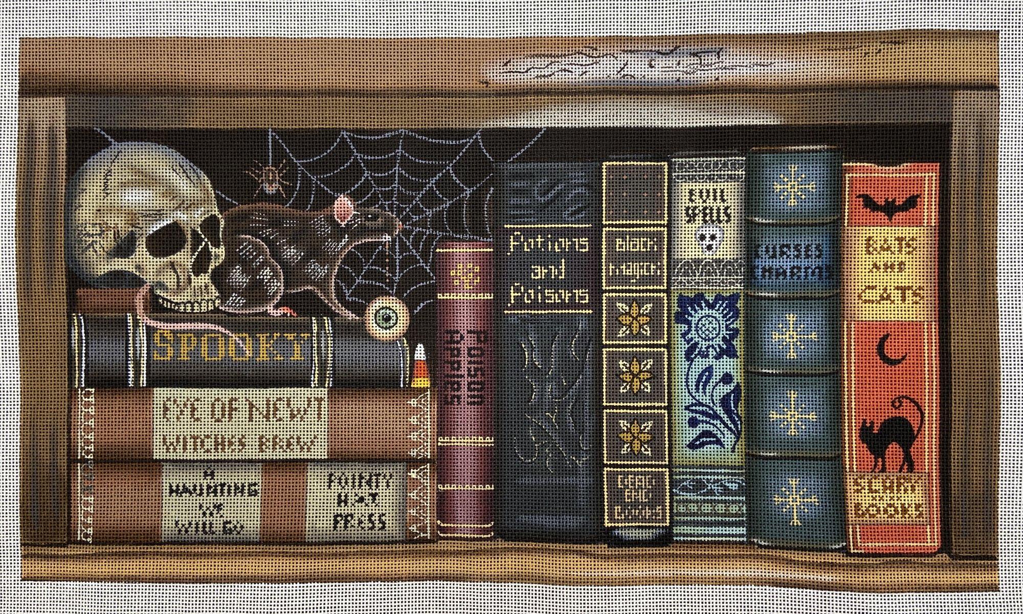 MS2057 Shelf of Witch's Halloween Books Melissa Shirley