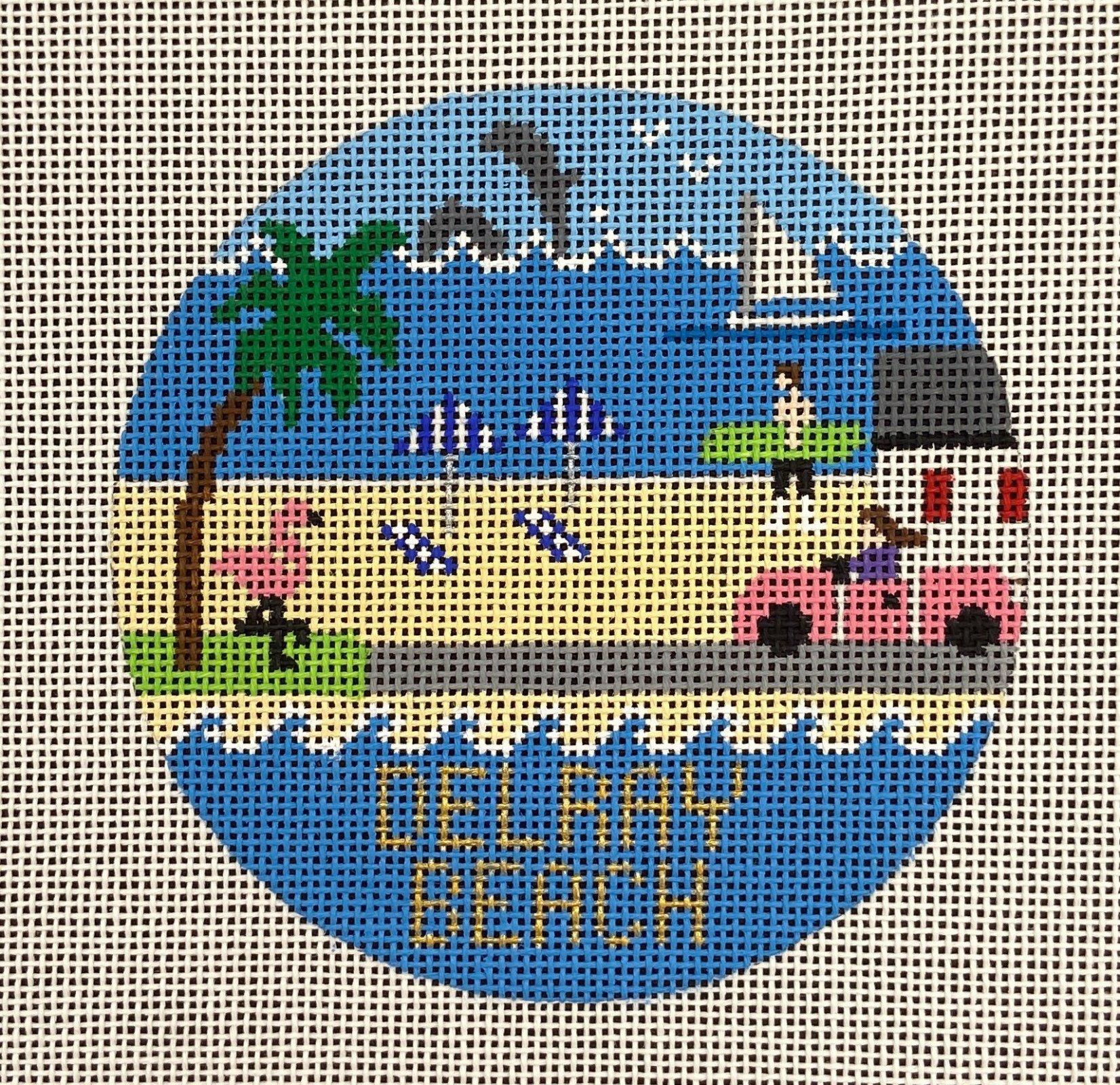 R335 Delray Beach Travel Round Doolittle Stitchery