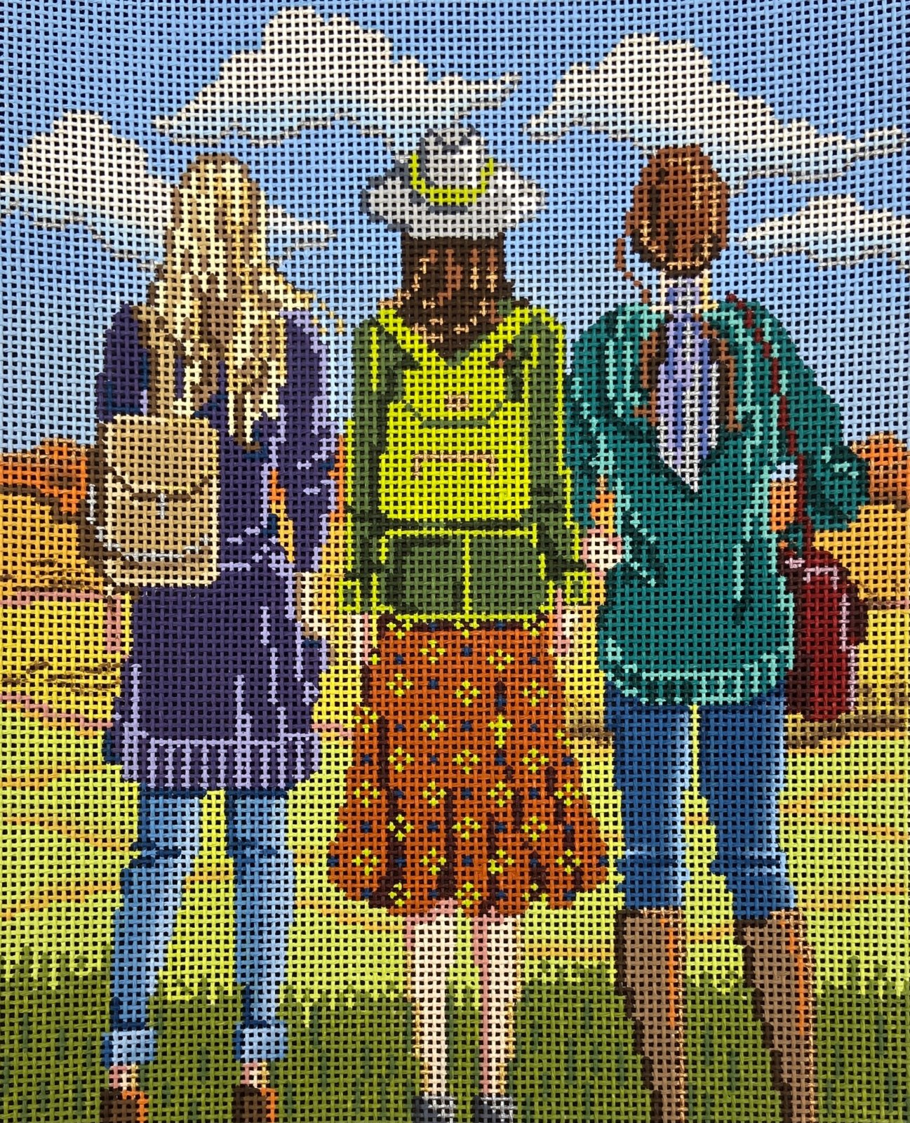 AP4154 Three Girls in the Fall Alice Peterson