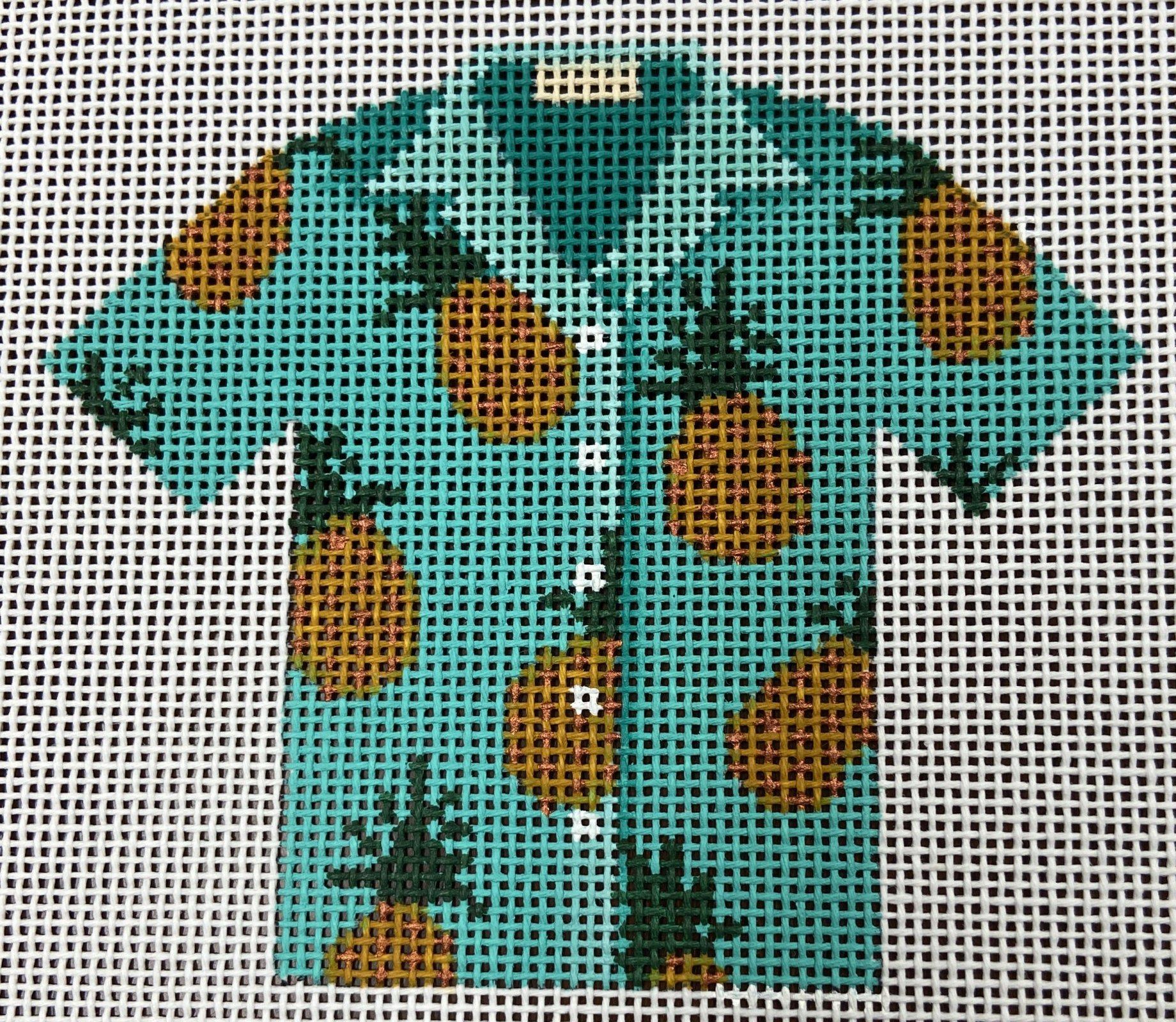 L652 Pineapple Hawaiian Shirt JP Needlepoint