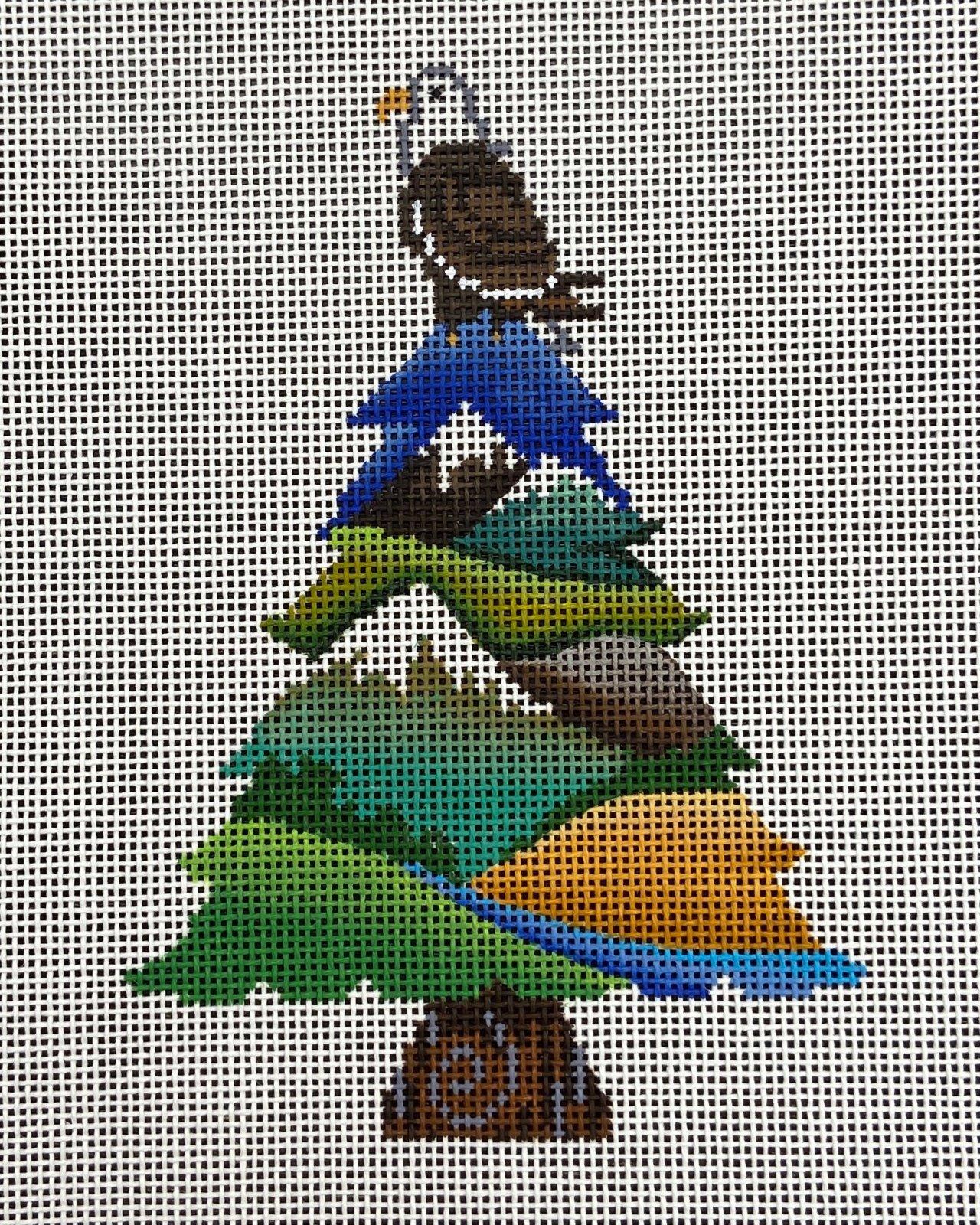 PM85025 Eagle on Tree Ornament Patti Mann