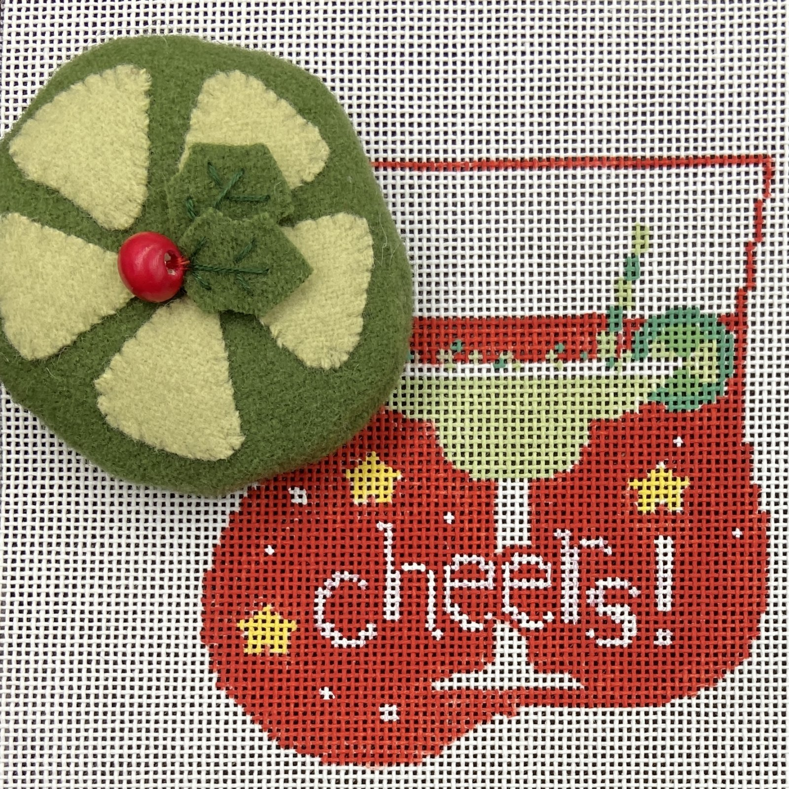 KSCM591 Margarita Time with Cheer Christmas Ornament Kathy Schenkel