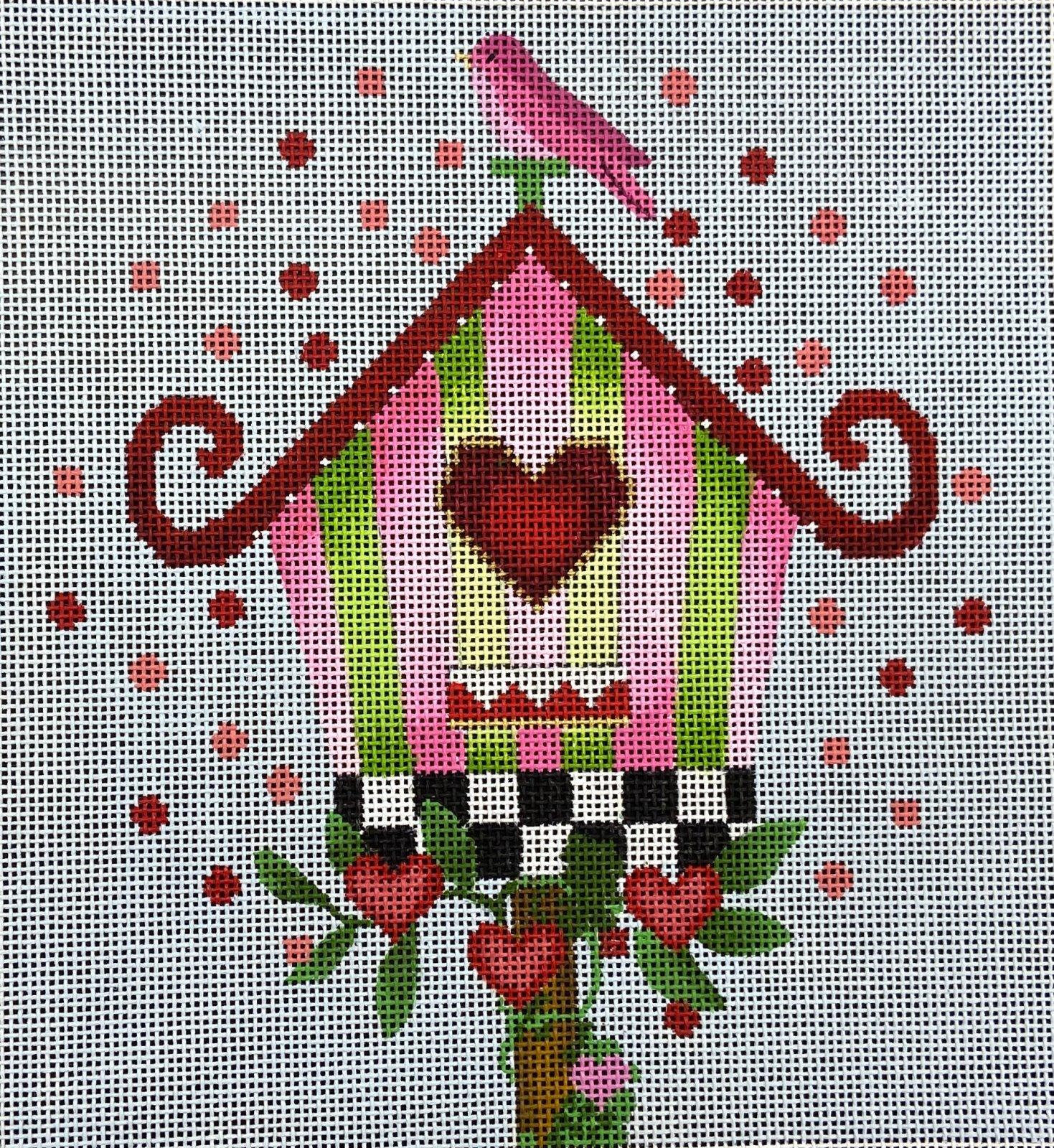 MS2210B Striped Birdhouse Melissa Shirley