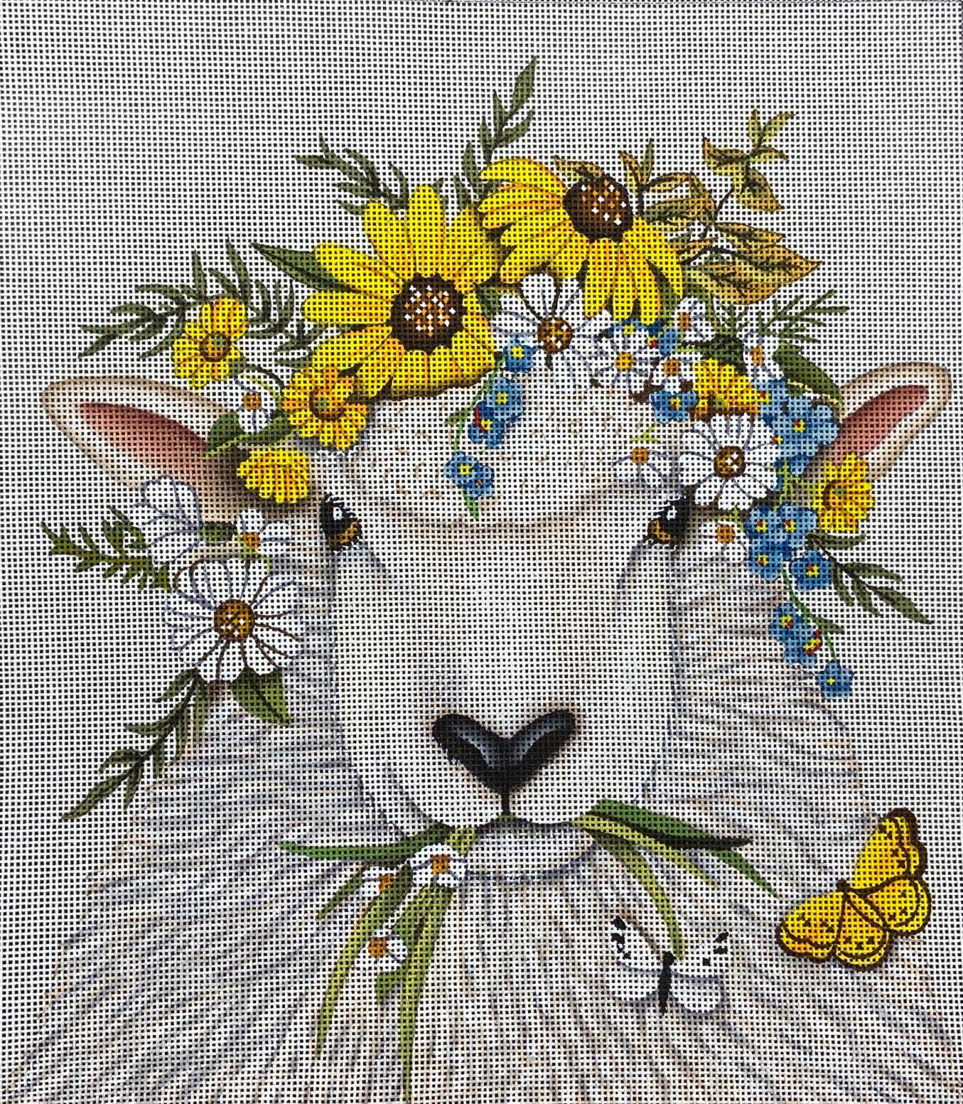 MLT676 Flowered Sheep Melissa Shirley