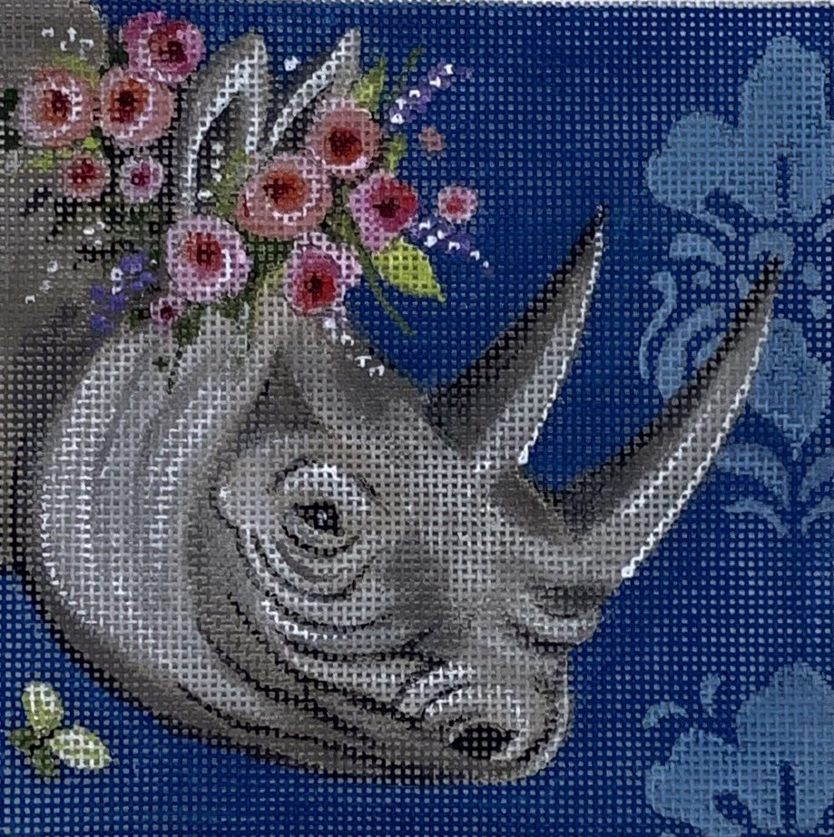 COPIN249 Rhino with Wreath Insert Colors of Praise