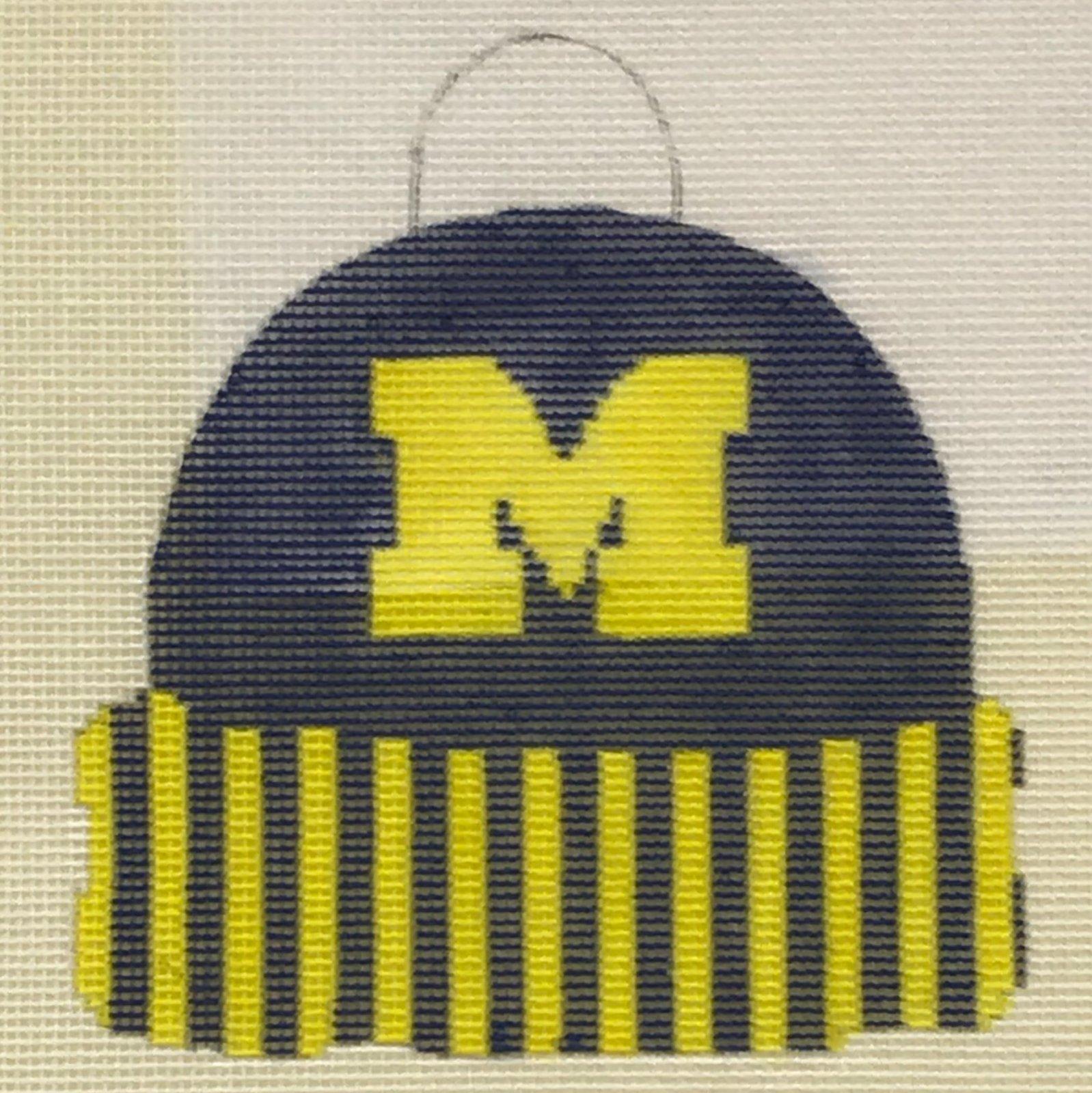 KKCC119 University of Michigan Hat Ornament Chris Lewis Distributing