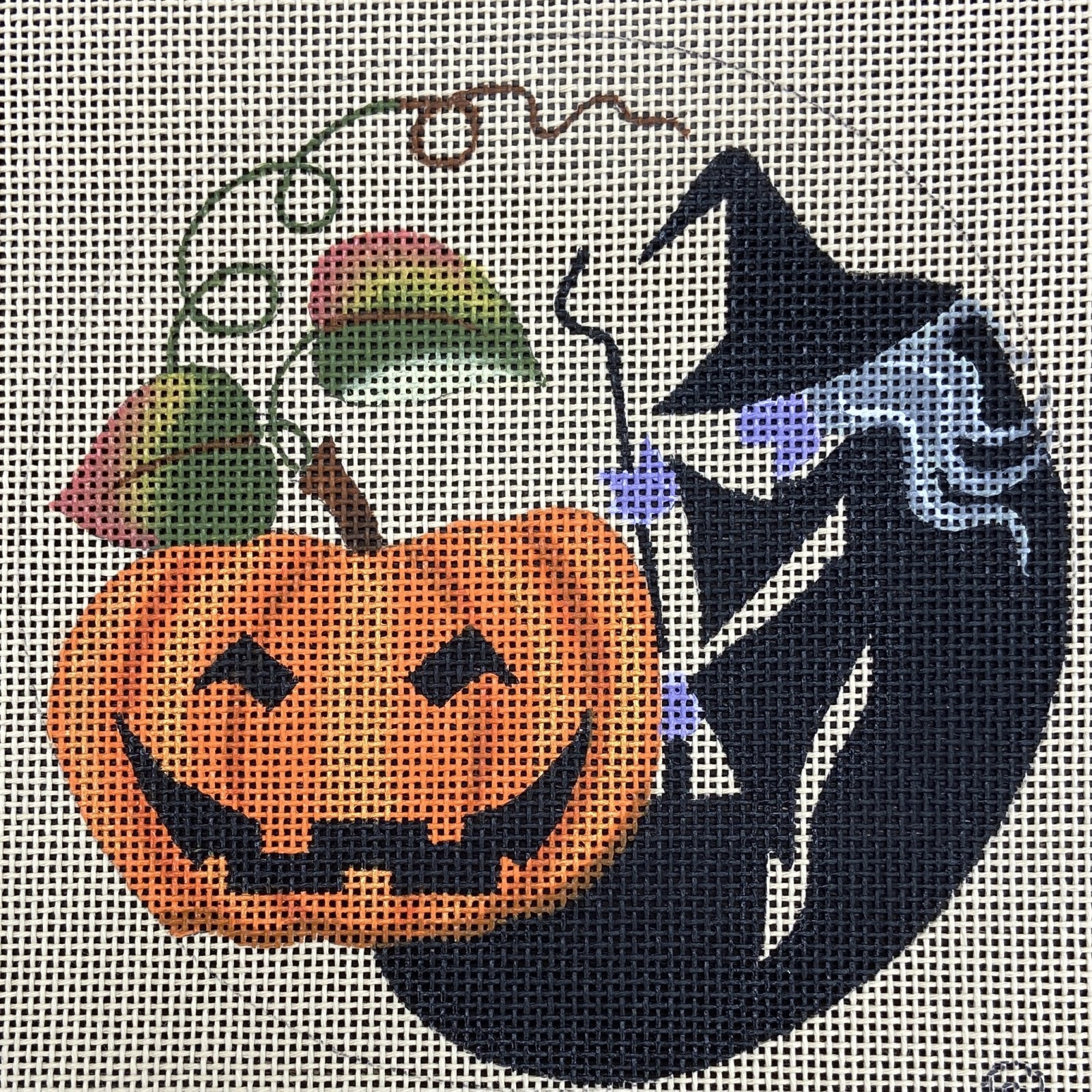 LD7804 Witch and Halloween Pumpkin with Stitch Guide Leigh Designs