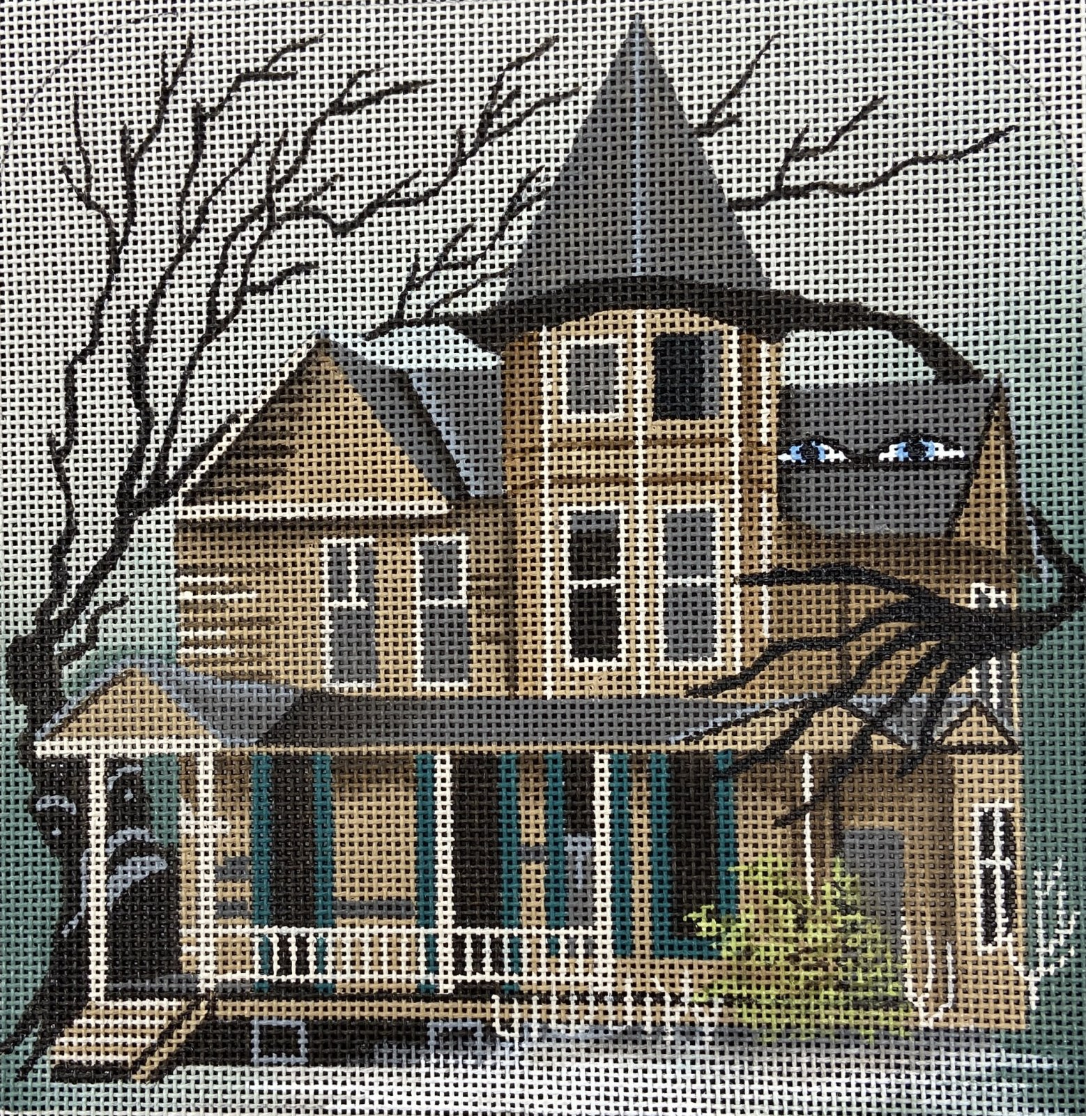 LD5215 Wailing Woods Haunted Hill with Stitch Guide Leigh Designs