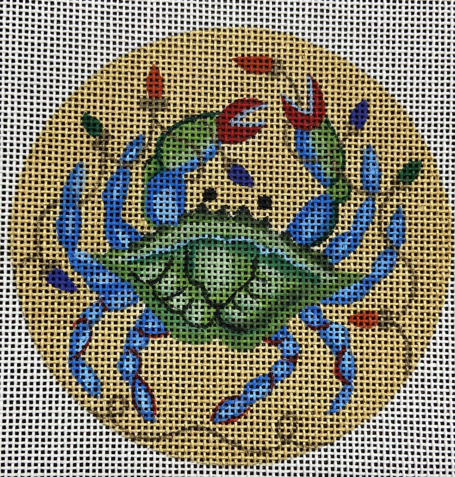 AL4365 Crab Circle Ornament Amanda Lawford