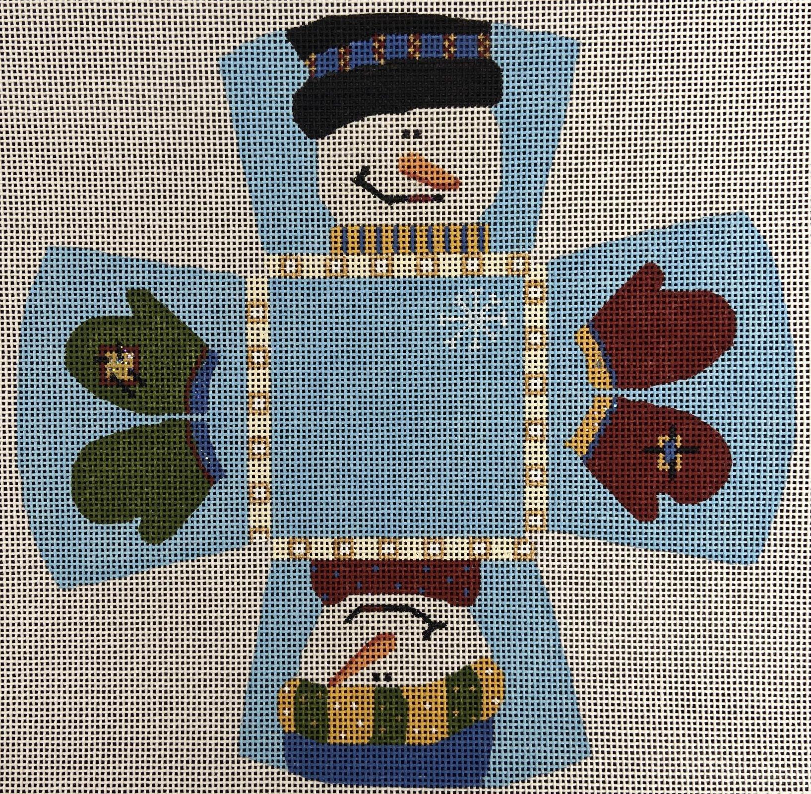 LS3D Mini Basket Snowman Little Shoppe Canvas Company