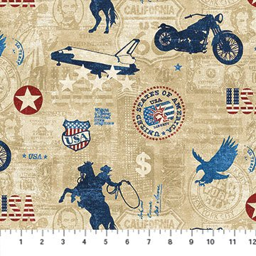 21335-12 - American Vintage by Deborah Edwards for Northcott