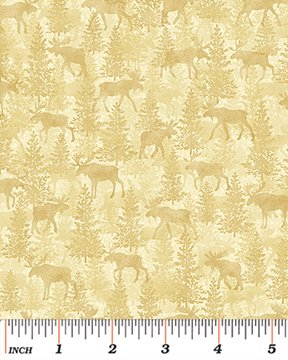 04302-07 - Moose on the Loose by Cheryl Haynes for Benartex
