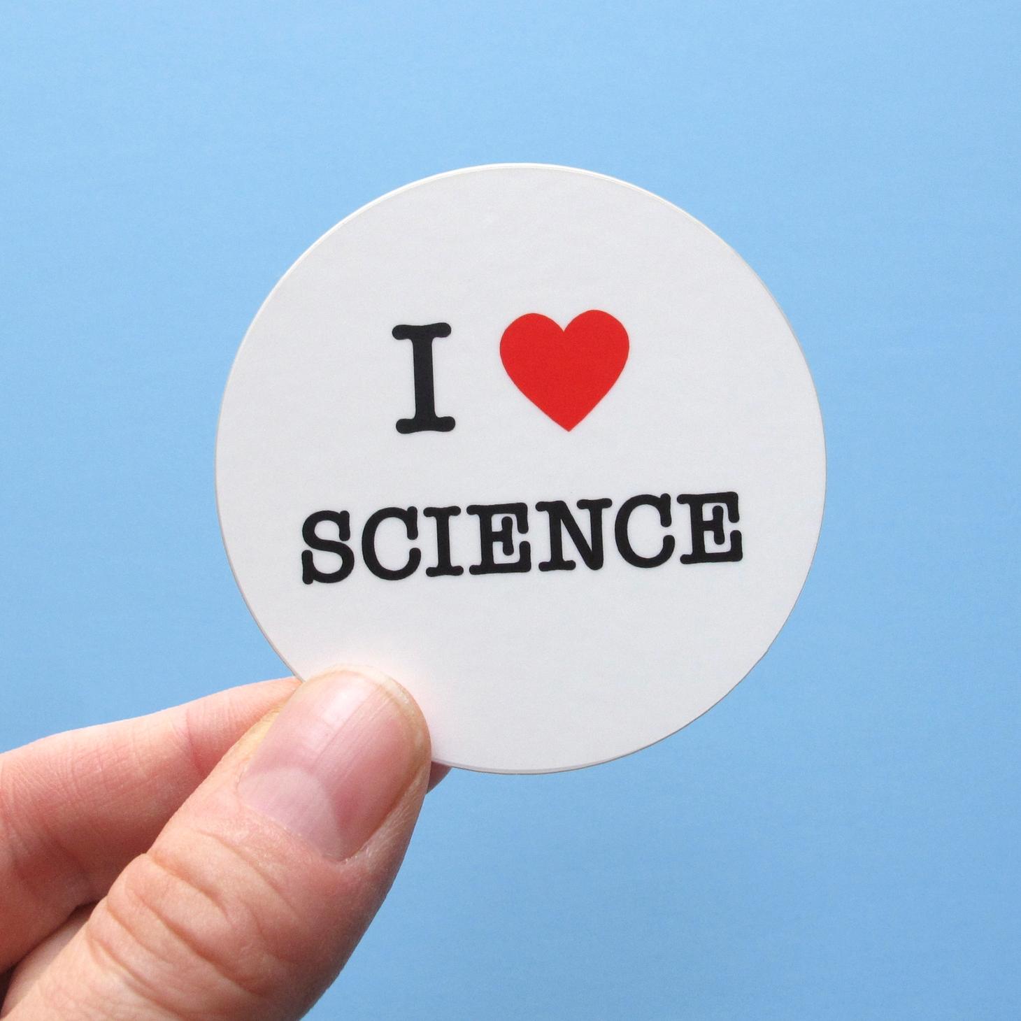 I Heart Science Sticker