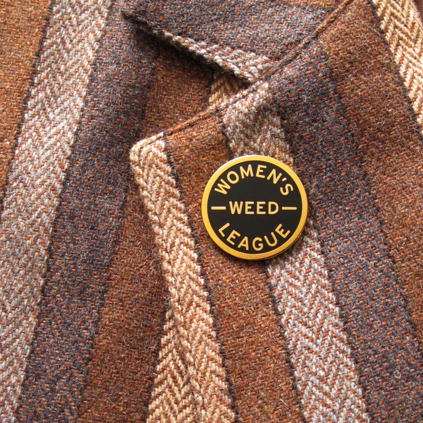 Women's Weed League Enamel Pin