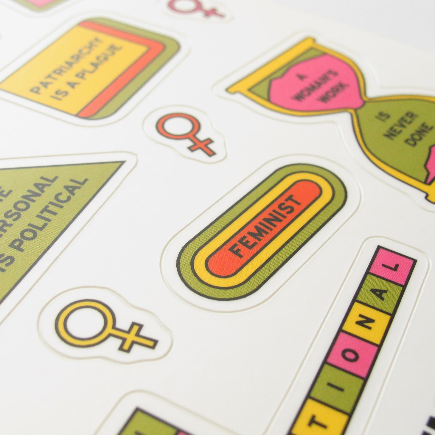 Feminist Sticker Sheets