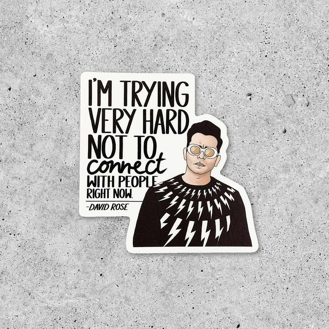 Schitt's Creek David Connect Sticker
