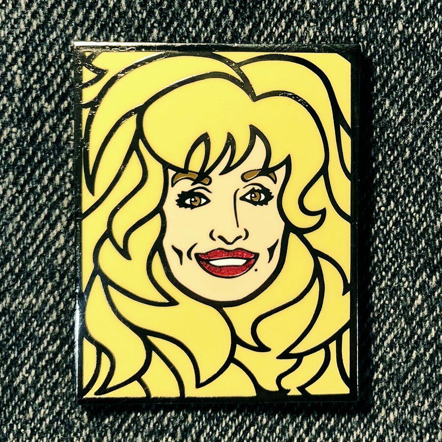 Dolly Lapel Enamel Pin