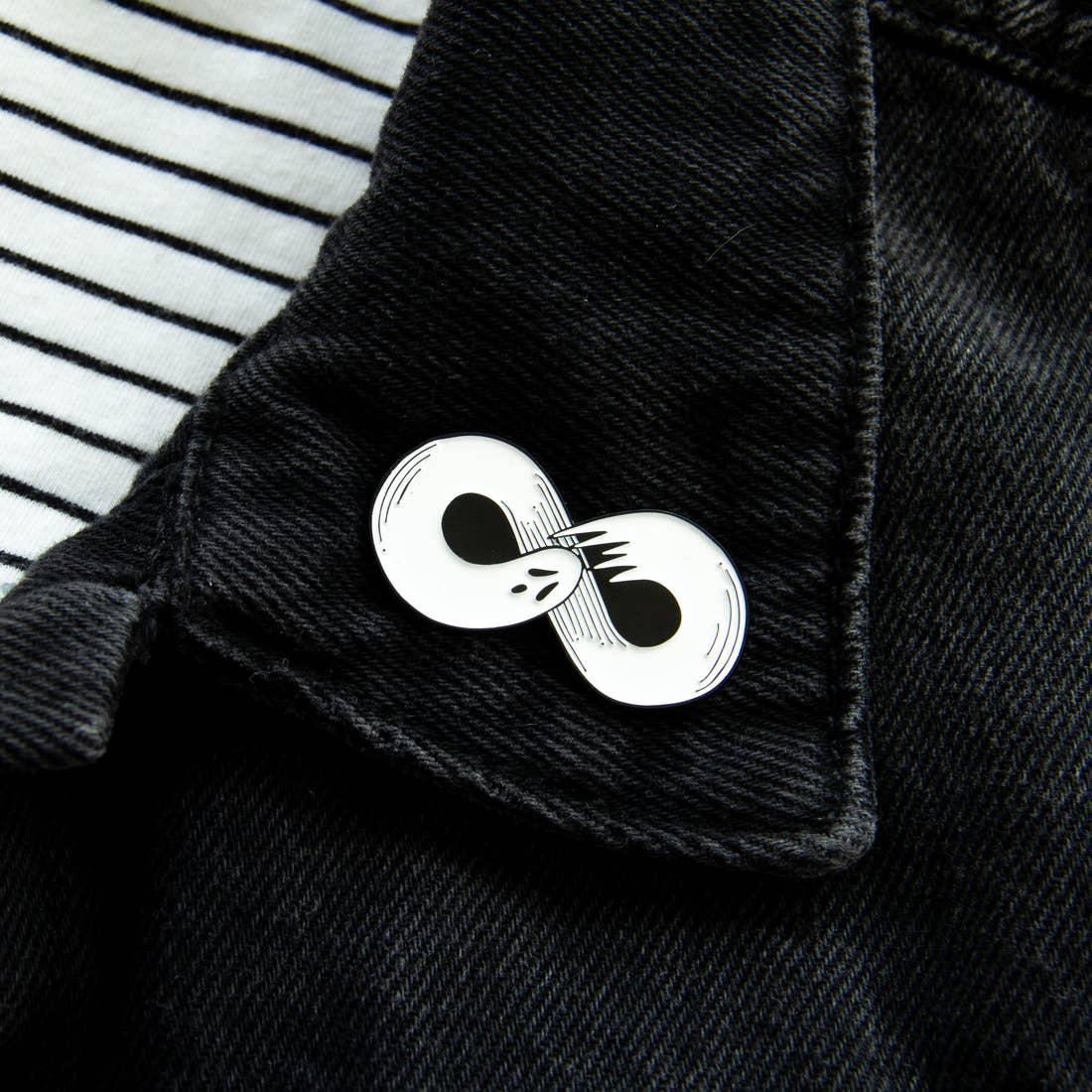 Infinity Ghost Enamel Pin