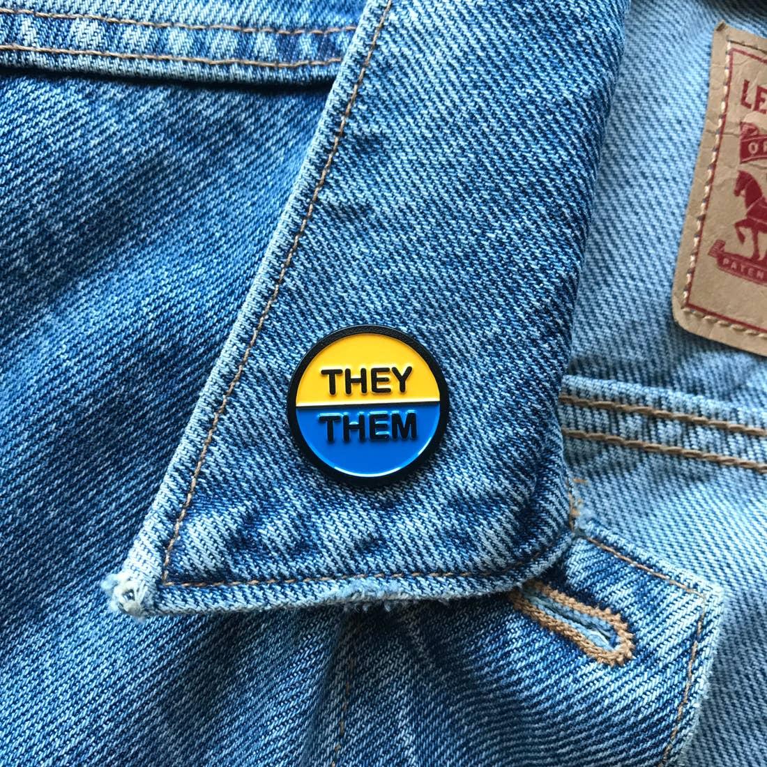 They Them Enamel Pin