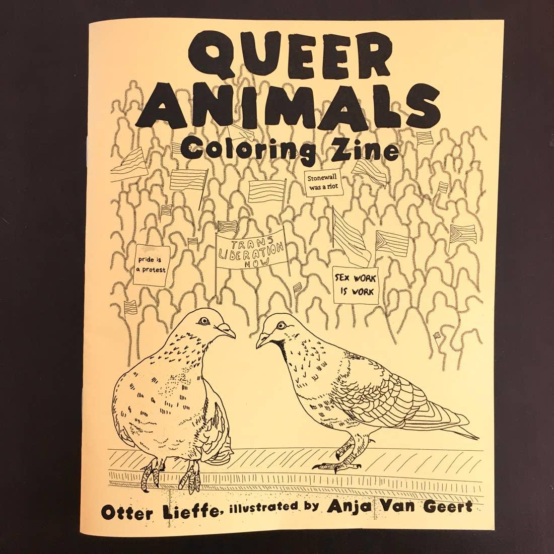 Queer Animals Coloring Zine