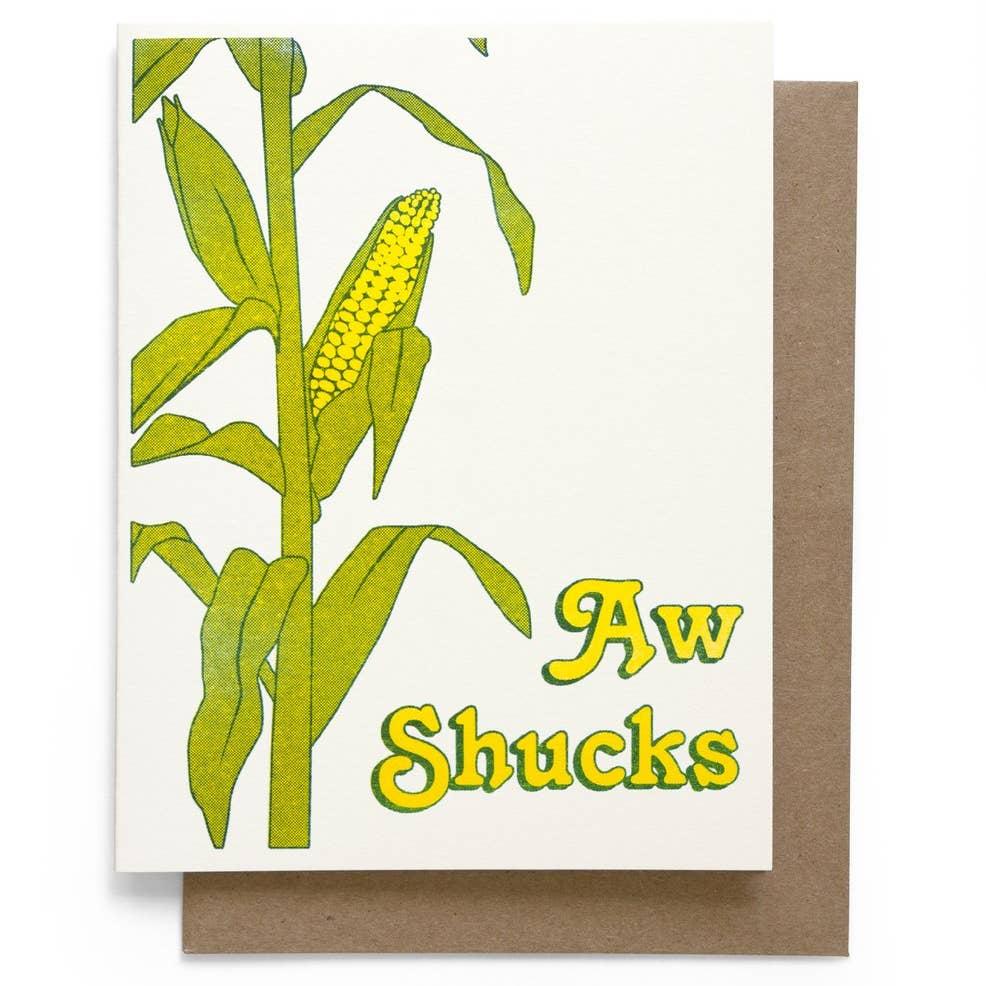 Aw Shucks Card
