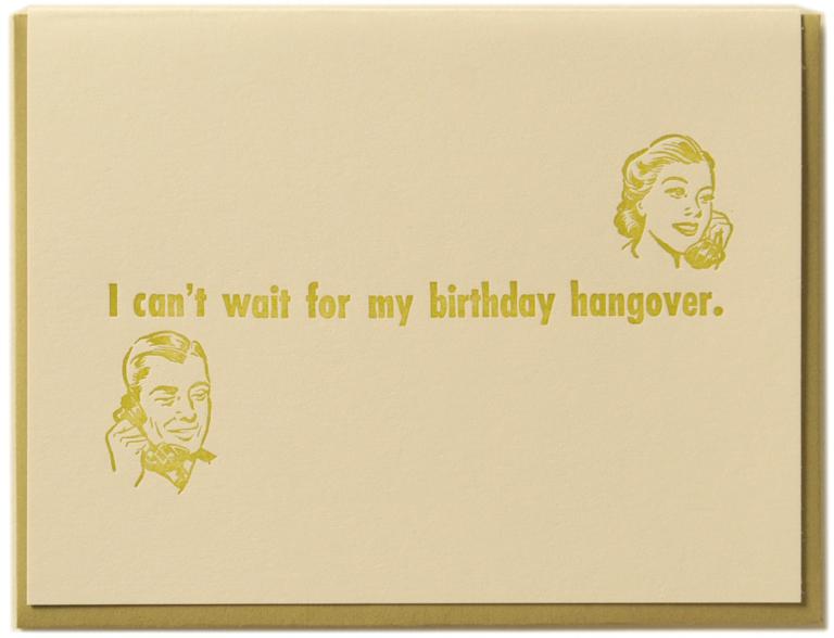 Birthday Hangover Card