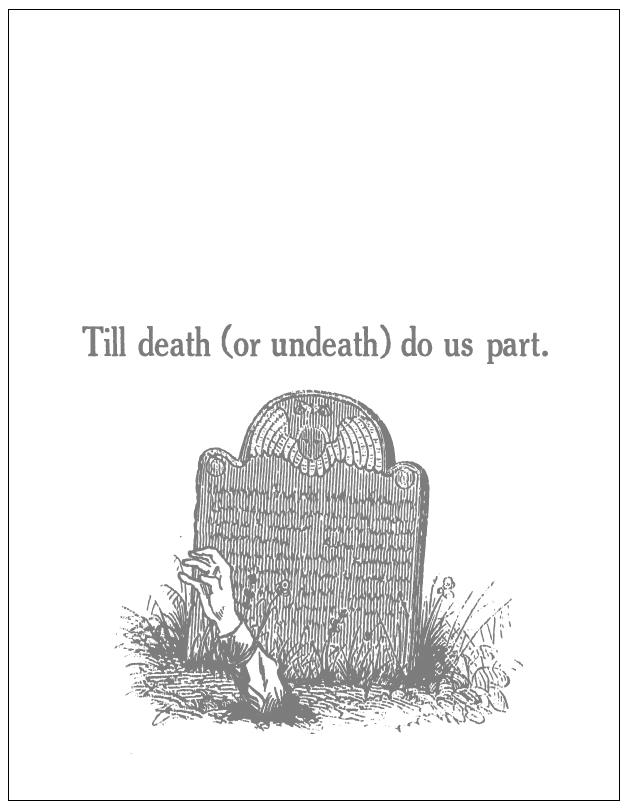 Till Death (or Undeath) Do Us Part Card