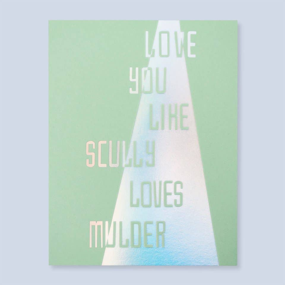 Scully + Mulder Card