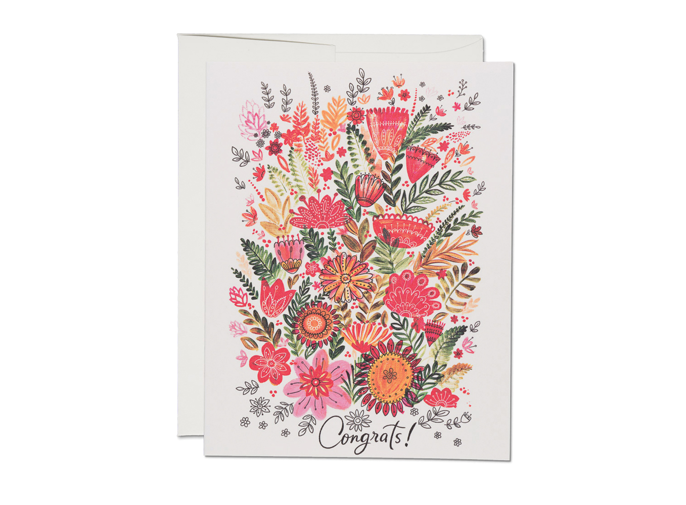 Colorful Flower Congrats Card