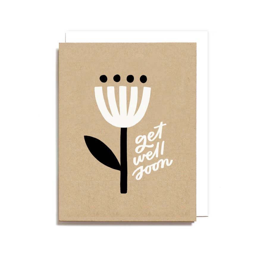Get Well Soon Minimal Flower Card
