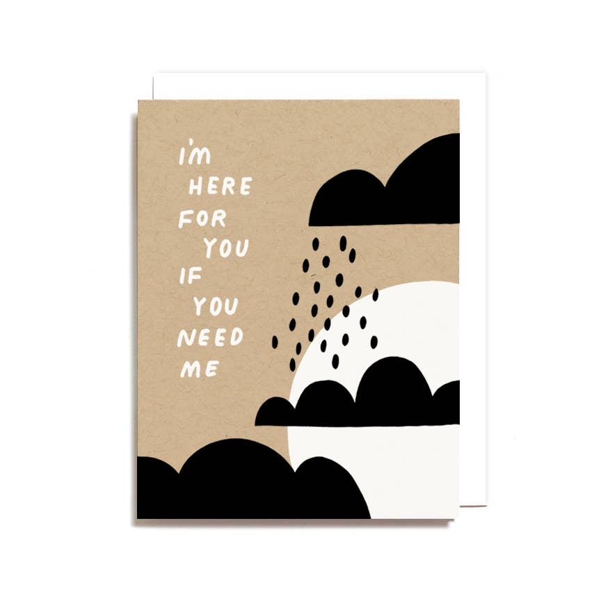 I'm Here For You If You Need Me Card