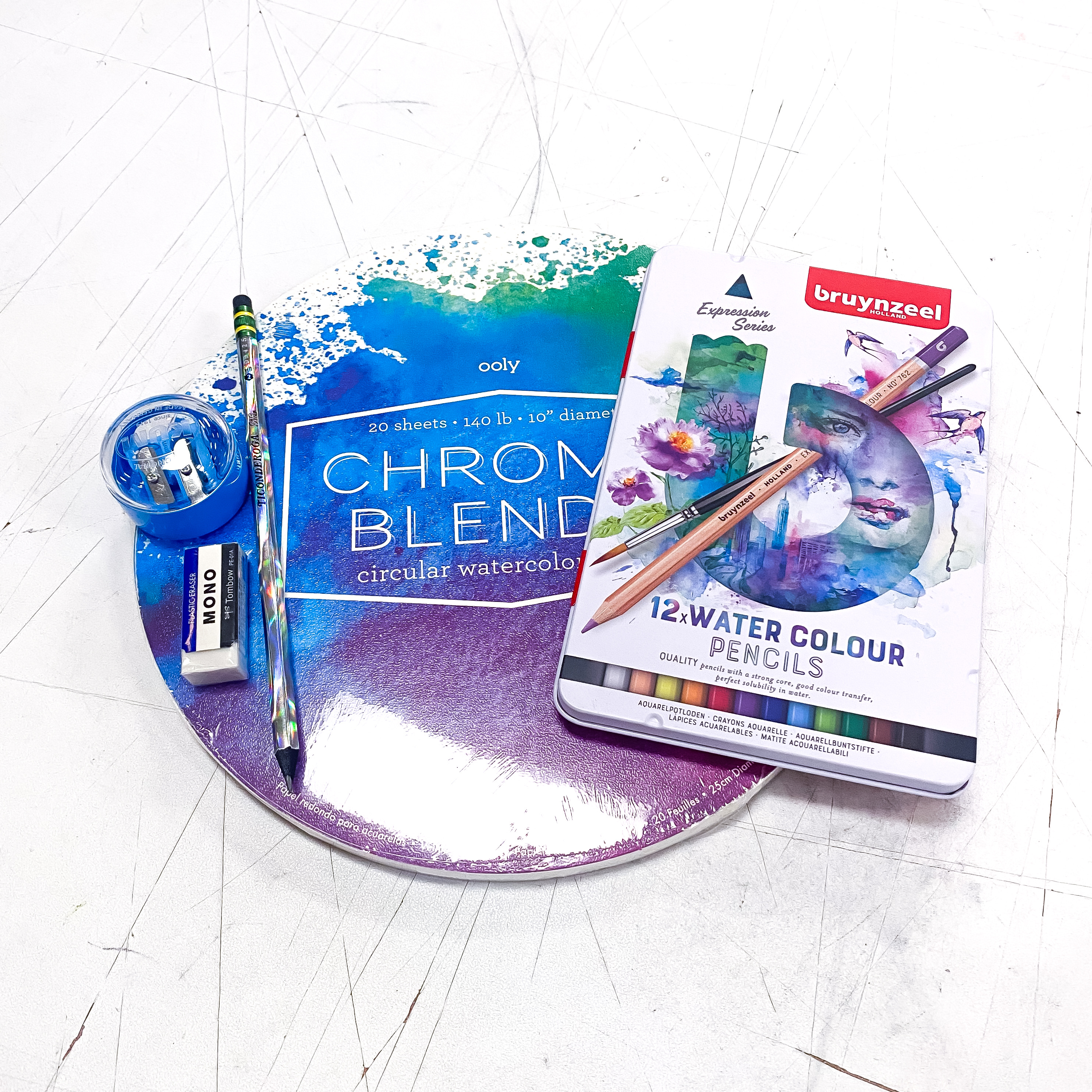 Round Watercolor Pencil Kit!